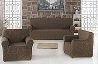 Набор чехлов для мебели Karna 3+1+1 жаккард Бордовый