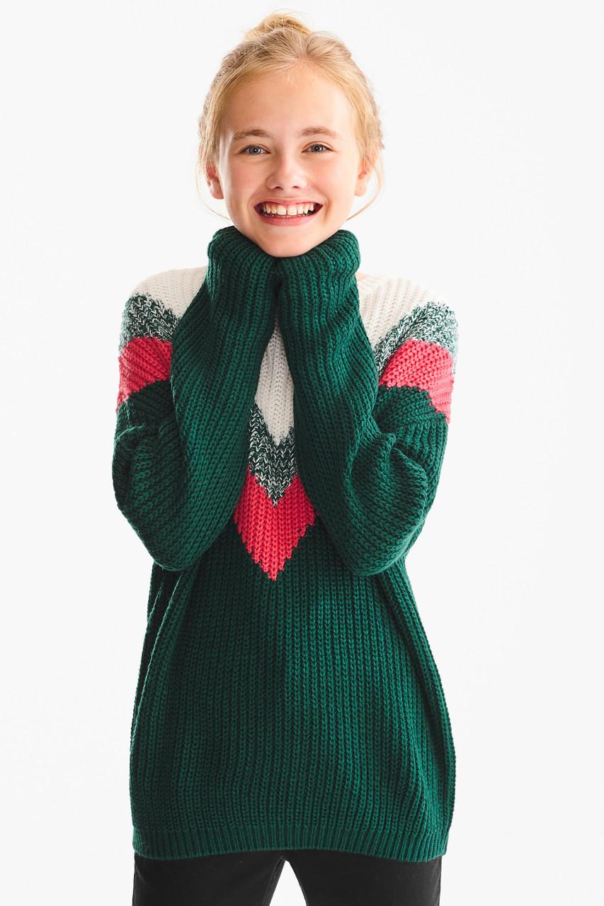 Вязаный свитер на девочку зима C&A Германия Размер 146-152