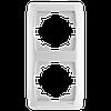 Рамка 2-я вертикальная белая ViKO