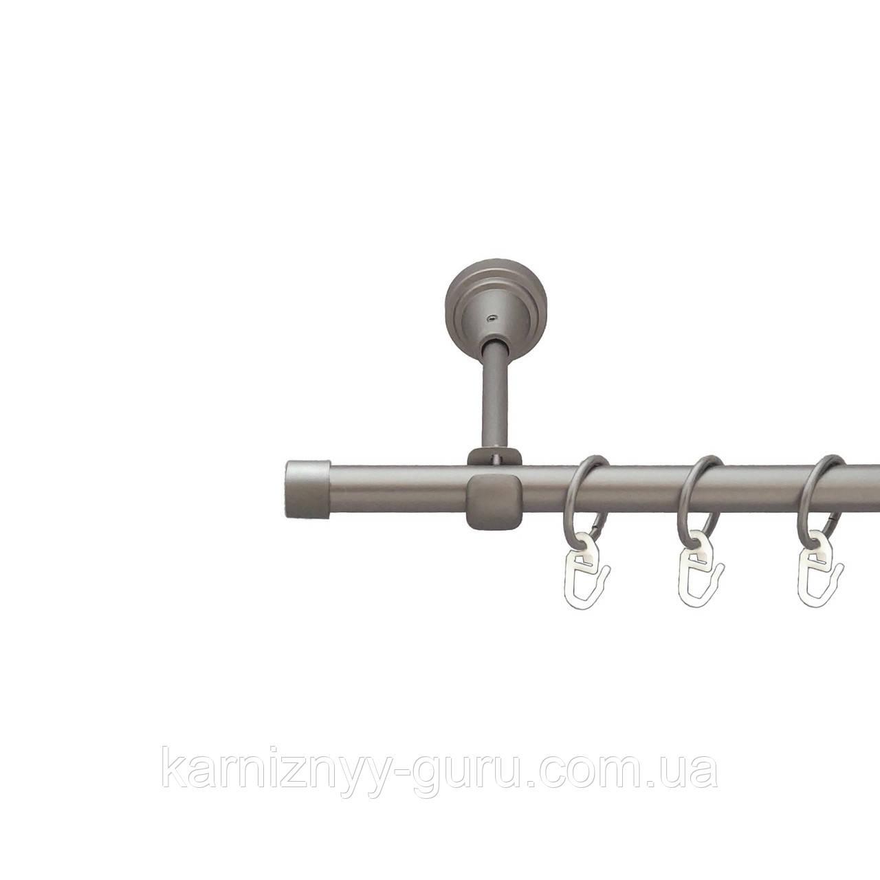 Карниз для штор ø 19 мм, одинарный, наконечник Заглушка