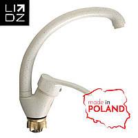 Смеситель для кухни на гайке (Белый) Lidz Польша 20 38 008 03
