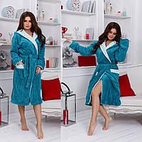 Махровий халат жіночий стильний, фото 1