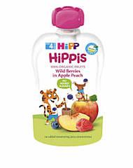 """Пюре фруктове органік """"Яблуко-Персик-Чорниця-малина"""" з 4 місяців HiPP (Хіпп) 100 гр"""
