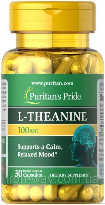 Puritan's Pride L-Theanine 100 mg 60 caps