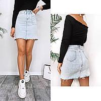 Юбка женская джинсовая С М Л ХЛ, фото 1