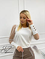 Рубашка однотонная с длинным рукавом из сетки ,2цвета ( р-р. S-M. M-L)  Код 5114Ж