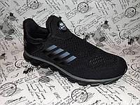 Мужские кроссовки сетка в стиле Adidas AERO WIND. черные