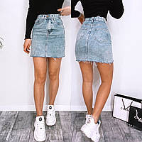 Юбка женская джинсовая чёрная синяя 42 44 46 48