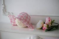 """Панама на завязках """"Розовая пантера"""" 36-54 см, 4 размера, фото 1"""