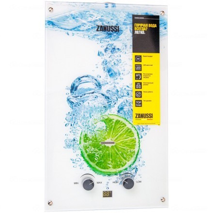 Газовая колонка Zanussi GWH 10 Fonte Glass Lime GWH10FONTEGLASSLIME