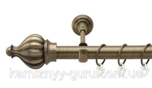 Карниз для штор ø 25 мм, одинарный, наконечник Таджа
