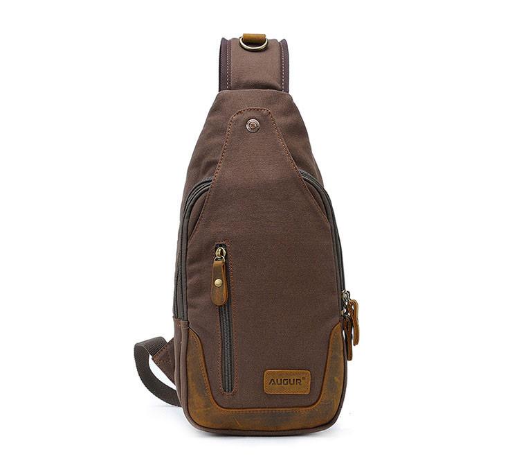 Рюкзак через плечо Augur   коричневый