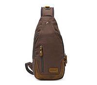 Рюкзак через плечо Augur   коричневый, фото 1