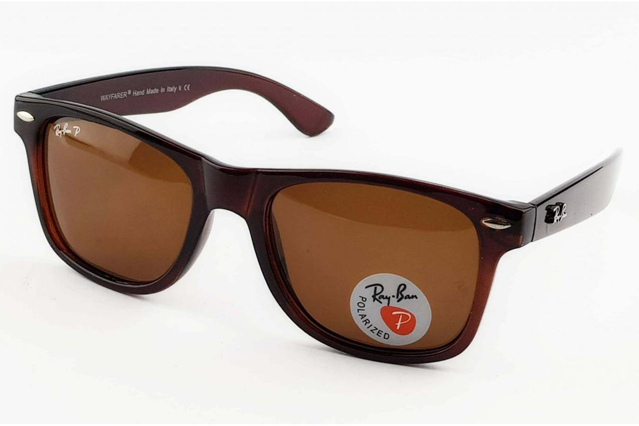 Очки Ray Ban Wayfarer 2140-901 Brown Polaroid