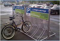 Велопарковка Дуга з кріпленням під рекламне пано (10 веломест)