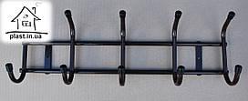 Вешалка Бордо настенная металлическая на 5 крючков