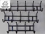 Вішалка Бордо настінна металева на 5 гачків, фото 4