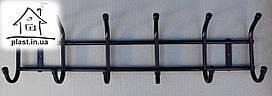Вешалка Бордо настенная металлическая на 6 крючков