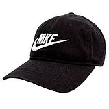 Женская Бейсболка Nike Кепка черная Найк 100% Коттон Люкс Качество Турция Хайповая Стильная Молодежная реплика, фото 2