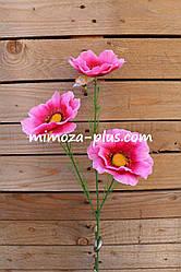 Искусственны цветы - Мак ветка, 56 см