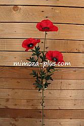 Искусственные цветы - Мак ветка, 75 см