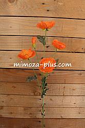Искусственные цветы - Мак ветка, 70 см