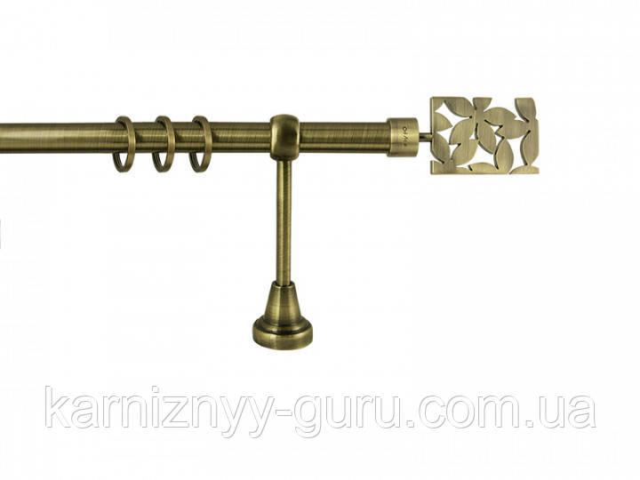 Карниз для штор ø 25 мм, одинарный, наконечник Делия