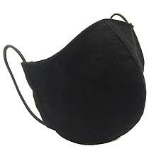 Захисна маска для обличчя багаторазова тришарова Mark I Чорна