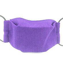 Захисна маска для обличчя багаторазова тришарова Mark II Фіолетова