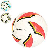 Мяч футбольный EN 3201  размер 5, ПВХ 1,6мм, 260-280г, 3цвета, в кульке