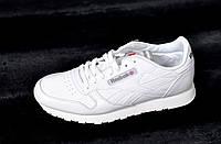 Мужские  кроссовки Reebok Classic, натуральная кожа, белые, Р. 42