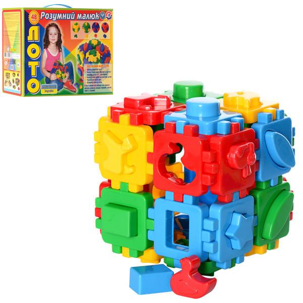 Іграшка куб Розумний малюк Лото ТехноК