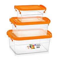 Набор пищевых контейнеров с ручками 3+1,6+0,85 л