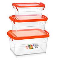 Набор пищевых контейнеров с ручками 3,5+2+1,15 л