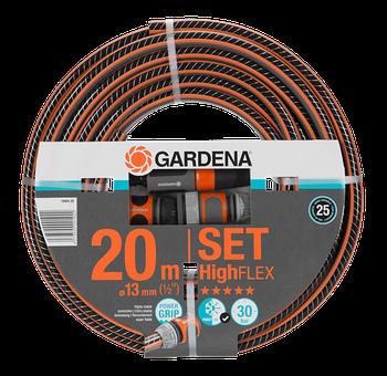 "Шланг Highflex д.13мм (1/2"") 20м + комплект Gardena"