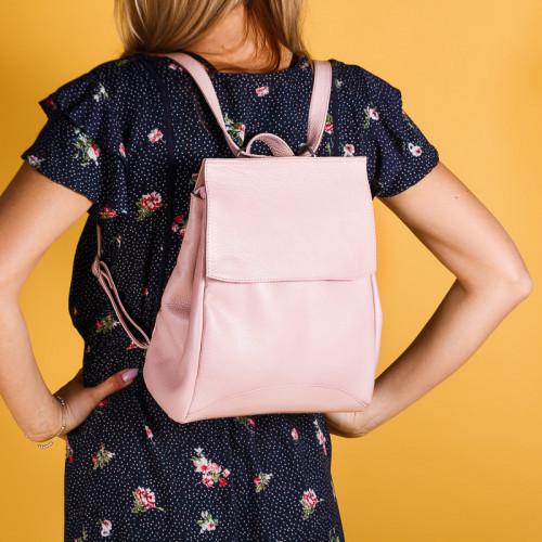 Рюкзак пудровый небольшой под заказ в любом цвете.