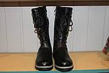 Зимние сапоги на девочку 32-38 черные, фото 6