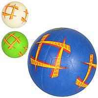 Мяч футбольный VA 0061  размер 5, резина, гладкий, 380-400г, 3цвета, в кульке
