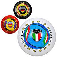 Мяч футбольный EV 3284  размер5, ПВХ, 300-320г, 3вида, страны,