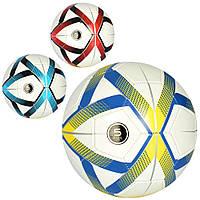 Мяч футбольный EV 3304  размер 5, ПВХ 1,8мм, 32панели, 300-320г, 3цвета, в кульке