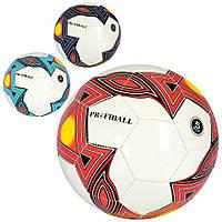 Мяч футбольный EV 3305  размер 5, ПВХ 1,8мм, 32панели, 300-320г, 3цвета, в кульке