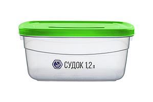 Судок 1,2 л зелений (арт. 91з)