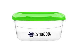 Судок 0,8 л зелений (арт. 90з)
