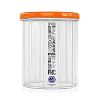 Ємність для сипучих продуктів 2,0 л з помаранчевою кришкою (арт. 98о)