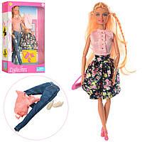 Кукла с нарядом DEFA 8383-BF (24шт) обувь, 2вида в кор-ке, 21-32-6,5см