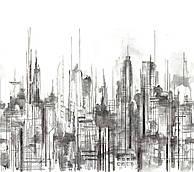 Skyline Mural 2m