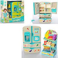 Холодильник 35882 28см, посуда, продукты, 27предм,муз,звук,2цв,на бат, в кор-ке, 36-32,5-13см