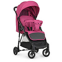 Коляска детская M 4249 Pink прогулочная, книжка,корзина, чехол, розовый