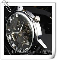 Часы мужские механические WINNER BLACK SKELETON
