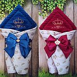 Нарядный конверт, одеяло для новорожденного весна/осень, фото 5